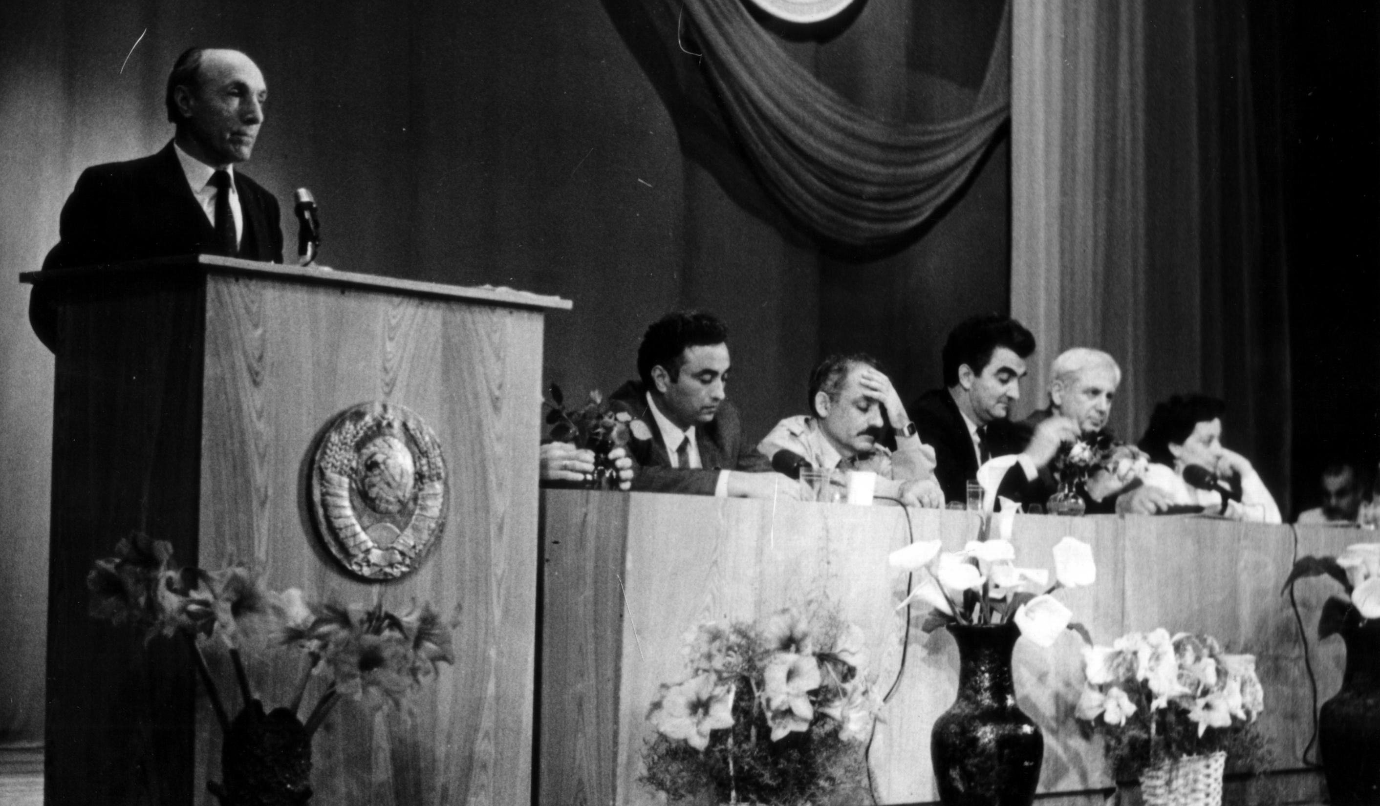 1991 год. Первый учредительный съезд греков СССР в Геленджике.  Выступает С. Космериди