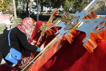 2014 год. Освящение и установка крестов