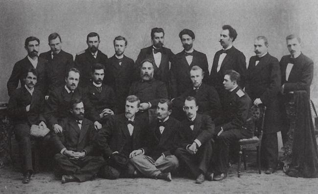 Профессор А.И.Куинджи с учениками, 1895 г.