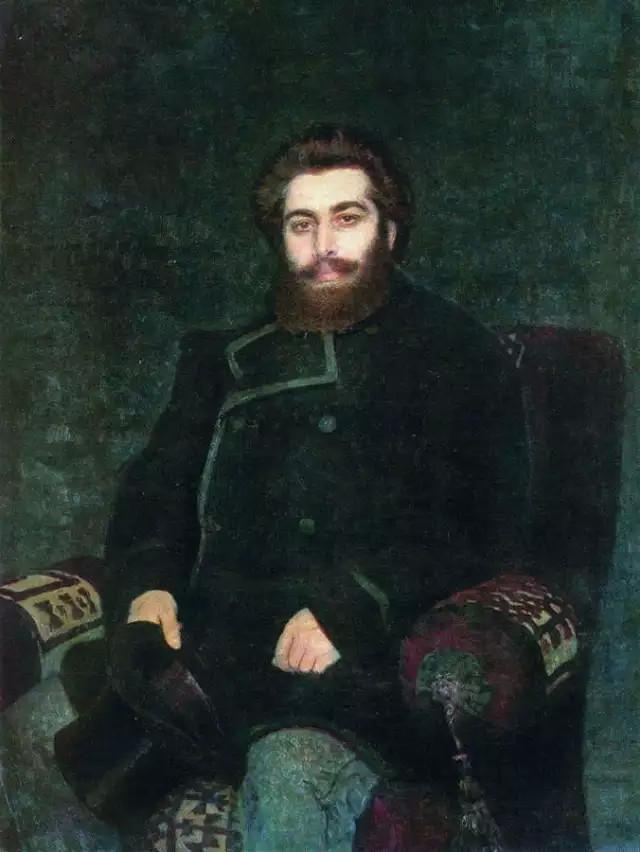 Портрет художника Архипа Ивановича Куинджи (И. Е. Репин, 1877 г.)