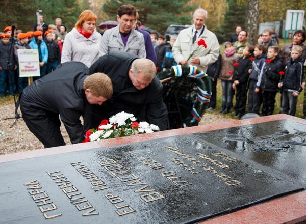 Открытие мемориала герою Отечественной войны 1812 года, генерал-лейтенанту Егору Ивановичу Властову в Ивановской области, 2012 г.