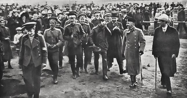 Встреча штабс-капитана Д.Г. Андреади в Москве (1912 год)